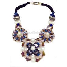 Grand collier en cristal de déclaration de Bohème de luxe audacieux de mode pour la partie, collier de bijoux de Boho