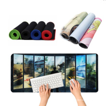 Nice picture Computer large natural rubber original customized mouse pads lock edge multi-color mouse pad