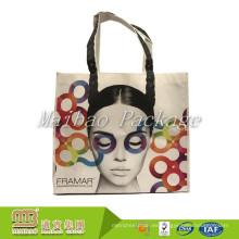 El logotipo personalizado respetuoso del medio ambiente promocional amistoso de Eco recicla el bolso con la impresión del diseño de encargo
