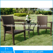 Synthetic Rattan 2 Seater Coffee Shop Cafe Rattan Furniture Wholesale