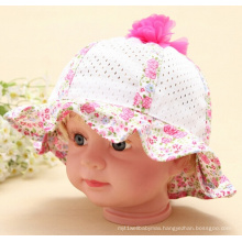 Floral Cotton with Mesh Fashion Summer Hat