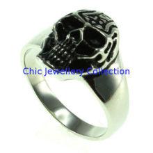Gothic Skull Biker Stainless Steel Skull Ring Vintage Jewelry For Man