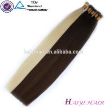 Fábrica china al por mayor Pure Remy queratina doble dibujada cutícula I tip Hair