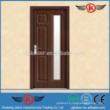 JK-P9074 nouveaux modèles de portes vitrées en bois de conception design