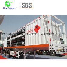 11-Tube Jumbo CNG Cylinder Tube Skid Container Trailer