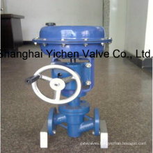 Pneumatic Fluorine Lined Single Seat Control Valve with Handwheel
