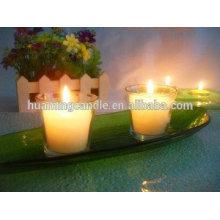 Huaming 7 días velas al por mayor exportadores / vaso de vidrio vela religiosa