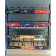 Tienda de venta al por menor Diseño de la exhibición de la encimera del contador 4-Capa de la energía del alambre del metal Drink Soda Can Rack Organizador