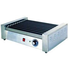 Hotel Stainless Steel Commercial Hot-dog Grill Machine 9-roller For Fast Food