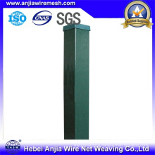 Security Metal Fencing PVC Coated Square Post