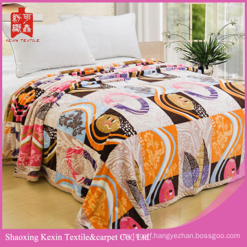 Geometric figure design Micro fiber coral fleece blanket