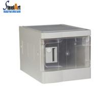 Bunter Plastikschließfachturnhallensupermarkt benutzte Plastikschrank des Schließfachkabinetts ABS