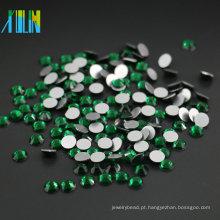 Atacado Todos Os Tamanho de Cristal Flatback Non Hotfix 14 Corte Rosto Coreano Pedrinhas, MS116 Esmeralda Cor