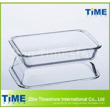 Plato de hornear de vidrio de alto borosilicato