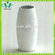 Morden weiße keramische Vase für Hauptdekoration im Porzellan