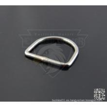 1 pulgada de aleación de metal soldado D-Rings