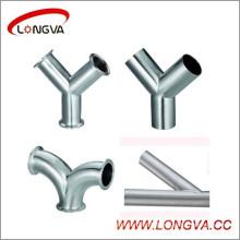Sanitary Stainless Steel Y-Type Tee