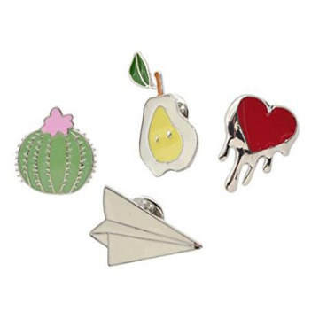 Creative Cute Cactus Lotus Flower Brooch Pins