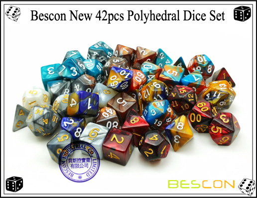 Bescon New 42pcs Polyhedral Dice Set-2