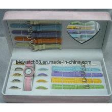 Promotion-Uhr Geschenk-Sets mit austauschbaren Gurten und Ringen