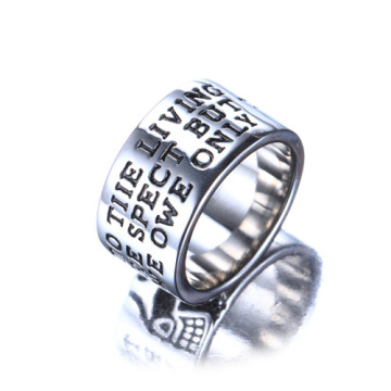Biker men wedding Ring Stainless Steel