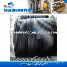 Máquina de Tracción de Ascensor Cuerda de alambre de acero, sobrevelocidad Gobernador Cable de acero