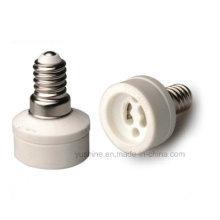 Adaptador de lámpara E14 a GU10 con soporte de porcelana