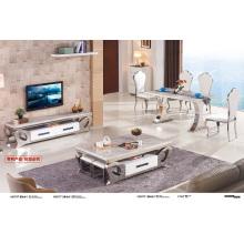 Table à manger en marbre de salon vivant (A3075)