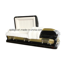 Black and Light Gold Casket