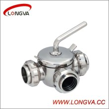 Hotsale Ss304/316L Three-Way Plug Valve