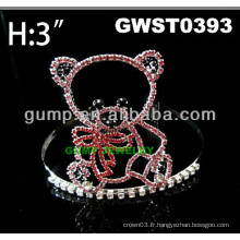 Couronne de tiare à ourlet de strass pas cher - GWST0393