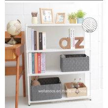 2014 Nuevo revestimiento de 3 niveles de polvo ajustable perforado estante de libro de metal para el hogar (MR603090C4)
