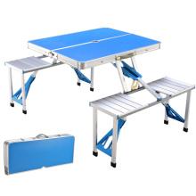 Klappbare Tisch Aluminium Leichtgewicht Höhe verstellbar mit Speicherorganisator für BBQ, Party, Camping