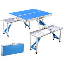 Outdoor Folding Table Aluminum Lightweight Height Adjustable with Storage Organizer for BBQ, Party, Camping