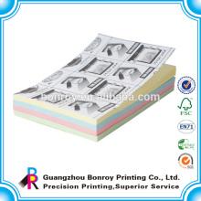 Papel para colorear almohadilla adhesiva / papel memo