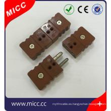 tipo k conector de termopar y conector jack
