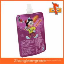 Nahrung Industrielle Anwendung und Tiefdruck Druck Oberflächen Handling Stand Folie Auslauf Taschen für Getränke Verpackung