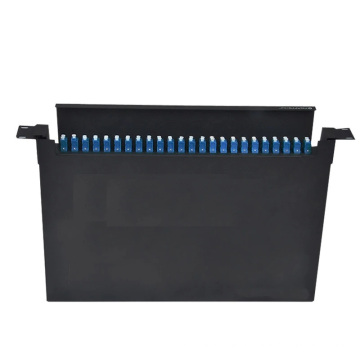 Caja de terminales de fibra 1U cajón montado en bastidor