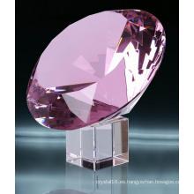 Diamante de cristal rosa de 40 mm Ks2014009
