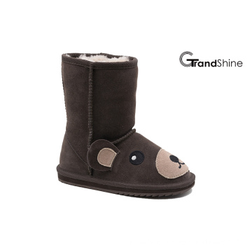 Kids New Arrival Suede Lovely Bear Snow Boots