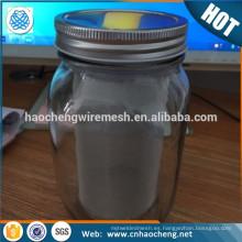 32oz 64oz 2 Quart Mason Jar Cold Brew Coffee Maker Tubo de filtro de malla de alambre de acero inoxidable