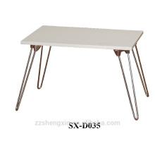 Einfache Falt-Metall-Notizbuch-Tisch-hölzernes Oberseite