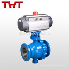 válvula de bola estándar de la ceniza del control del actuador neumático
