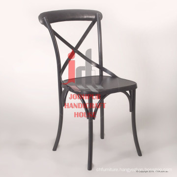 Industrial Vintage Iron Crossed Grey finish Dining Chair