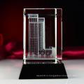 Лазер 3D Архитектурная модель Кристалл стеклянный куб пресс-папье