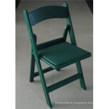 Cadeira plástica verde do jardim ao ar livre para o partido