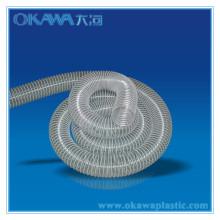 Flexible en plastique transparent avec fil d'acier