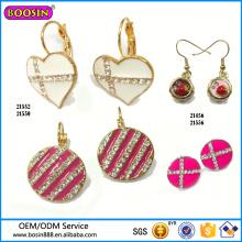 Guangzhou Boosin Zinc Alloy Jewelry, Cross Rhinestone Enamel Earring# 21552