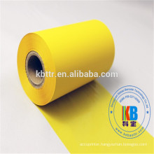 Latest products made wash care label fabric resin material barcode ribbon