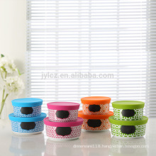Multicolorful food storage container set